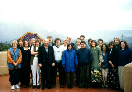 Group photo from 1998 retreat