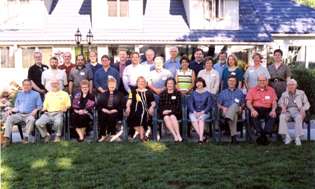 Group photo from 2003 retreat