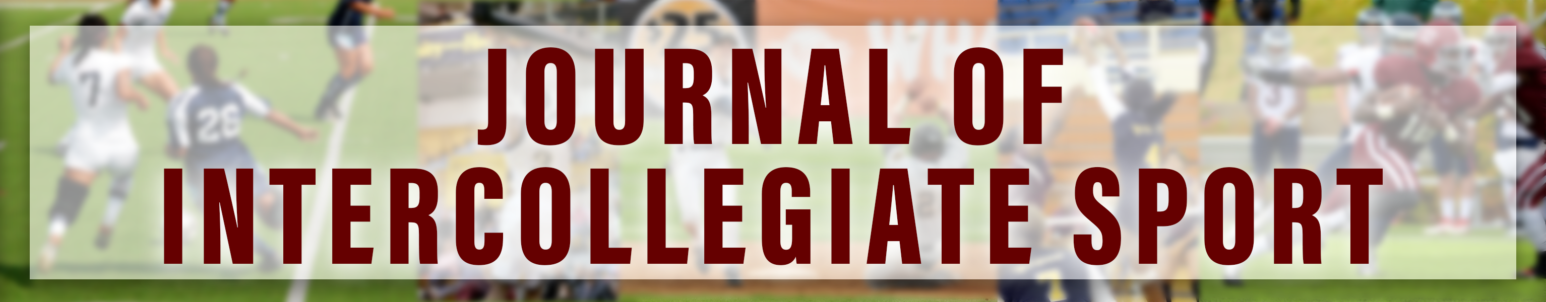 Journal of Intercollegiate Sport:  Images from soccer, basketball, baseball, volleyball, and hockey