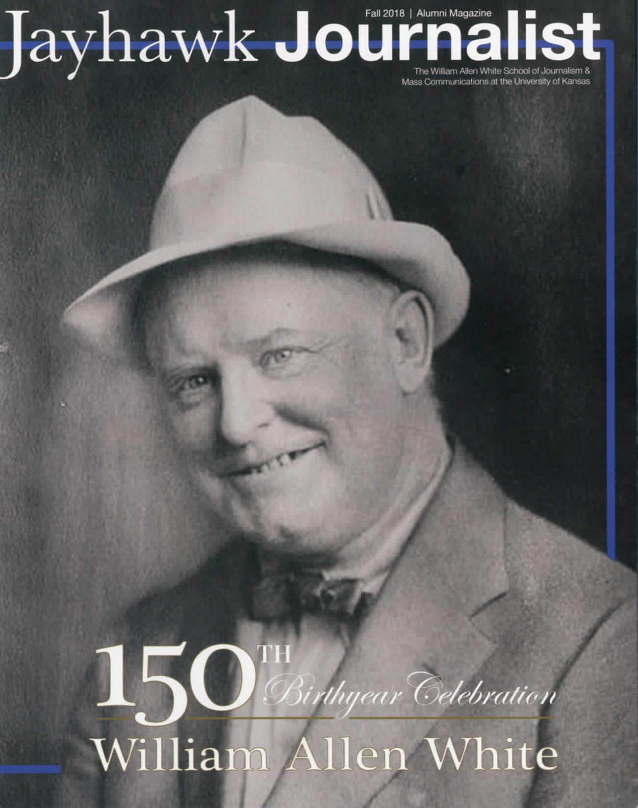 Jayhawk Journalist cover -- Photo of William Allen White