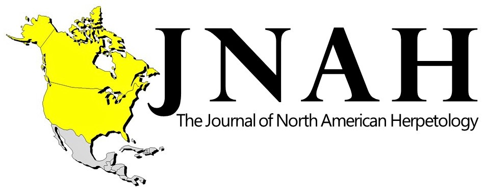 Journal of North American Herpetology logo - map of USA and Canada