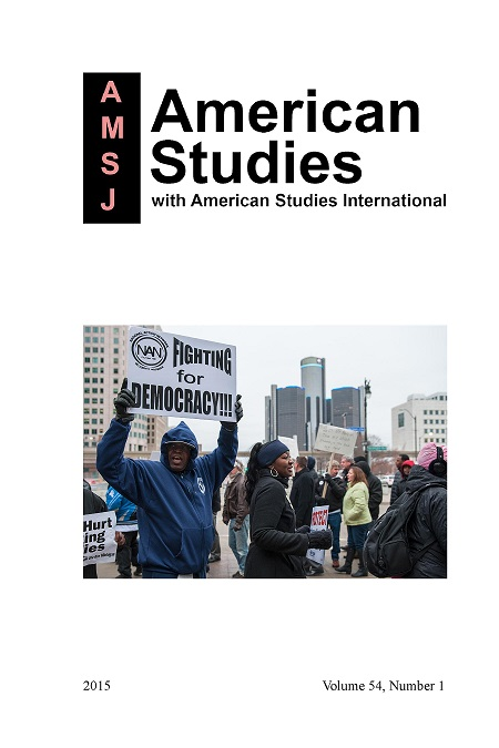 Cover of American Studies, volume 54:1